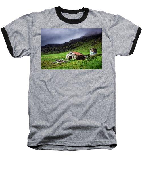 Deserted Barn In Iceland Baseball T-Shirt