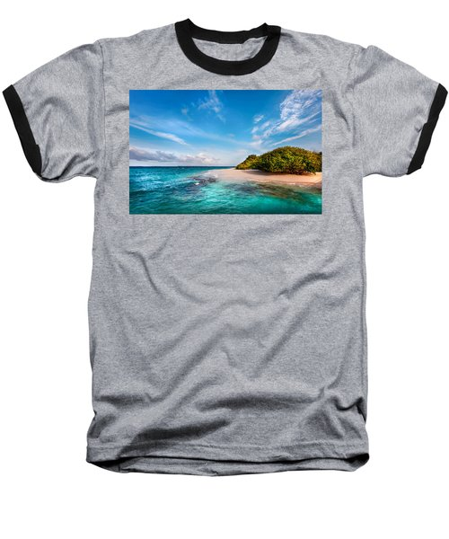 Baseball T-Shirt featuring the photograph Deserted Maldivian Island by Jenny Rainbow