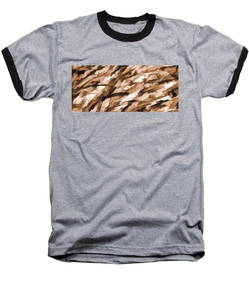 Designer Camo In Beige Baseball T-Shirt