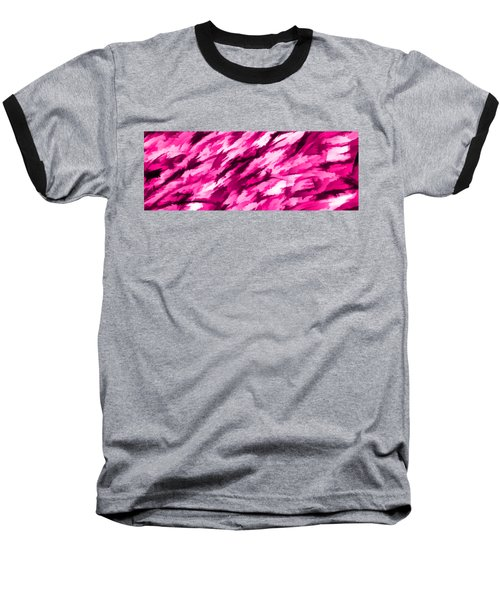 Designer Camo In Hot Pink Baseball T-Shirt by Bruce Stanfield