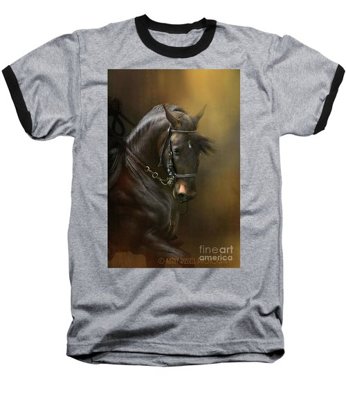 Desparate' In Gold Baseball T-Shirt by Kathy Russell