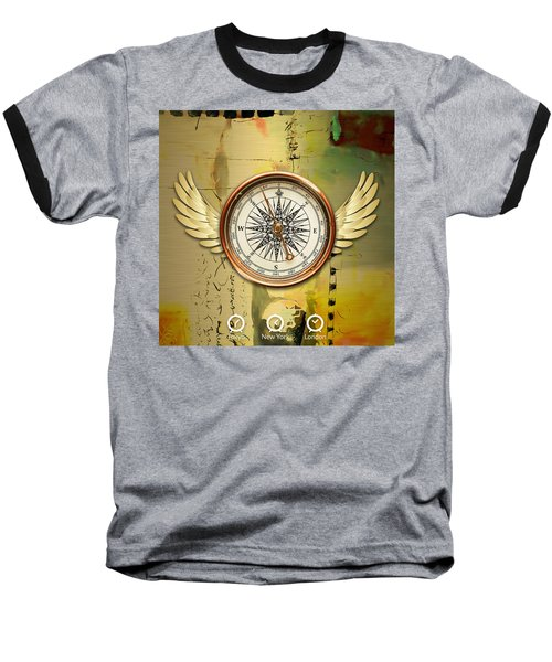 Baseball T-Shirt featuring the mixed media Destination by Marvin Blaine