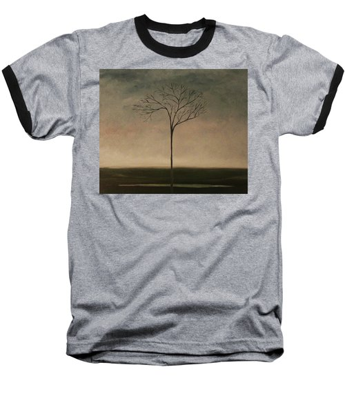 Baseball T-Shirt featuring the painting Det Lille Treet - The Little Tree by Tone Aanderaa