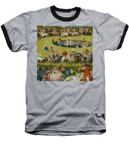 Detail From The Central Panel Of The Garden Of Earthly Delights Baseball T-Shirt