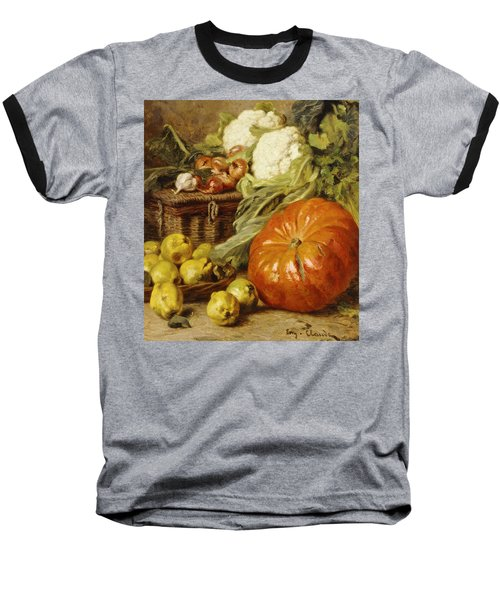 Detail Of A Still Life With A Basket, Pears, Onions, Cauliflowers, Cabbages, Garlic And A Pumpkin Baseball T-Shirt