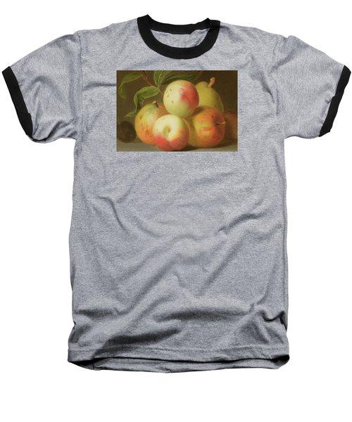 Detail Of Apples On A Shelf Baseball T-Shirt