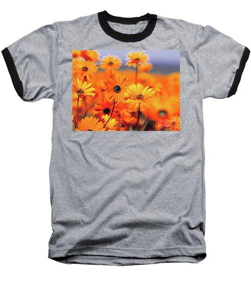 Details In Orange Baseball T-Shirt