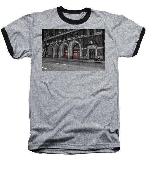 Detroit Fire Department Headquarters  Baseball T-Shirt
