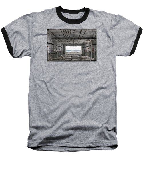 Detroit Packard Plant  Baseball T-Shirt by John McGraw