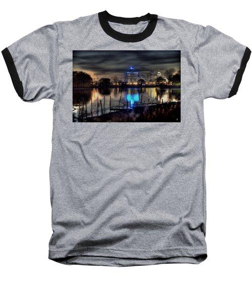Detroit Reflections Baseball T-Shirt by Nicholas  Grunas