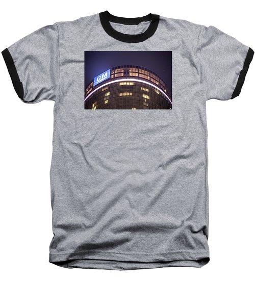 Baseball T-Shirt featuring the photograph Detroit Renaissance Center by Nicholas  Grunas