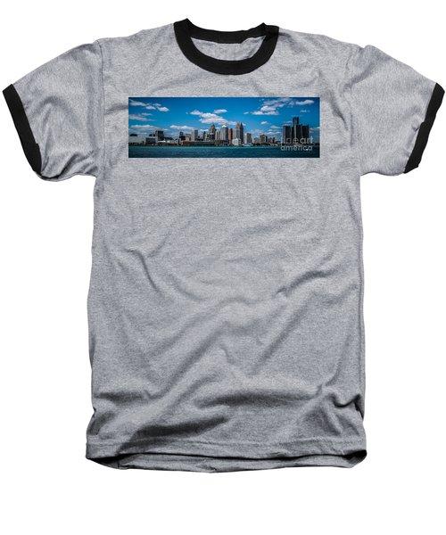 Detroit Skyline Baseball T-Shirt