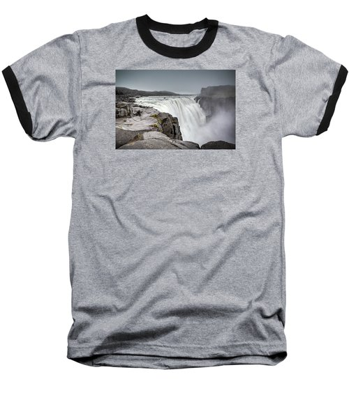 Dettifoss Baseball T-Shirt by Brad Grove