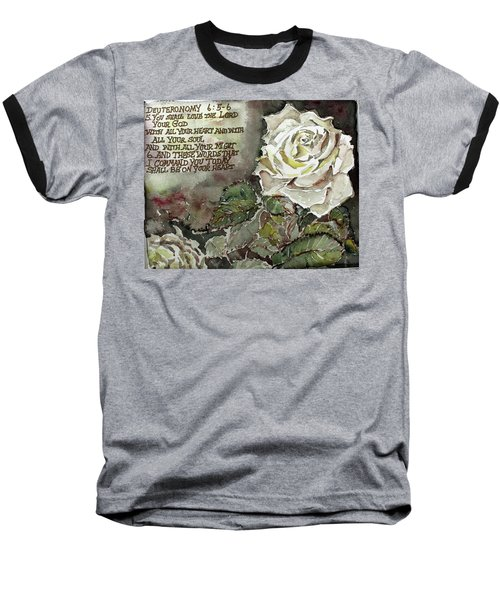 Baseball T-Shirt featuring the painting Deuteronomy 6 by Mindy Newman
