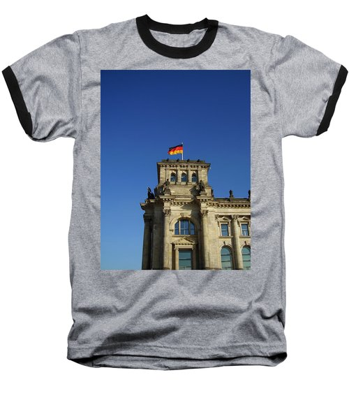 Deutscher Bundestag II Baseball T-Shirt by Flavia Westerwelle