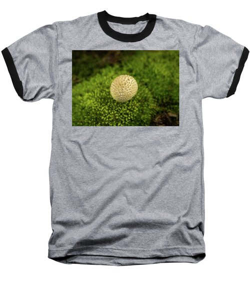 Developing Mushroom On A Bed Of Moss Baseball T-Shirt