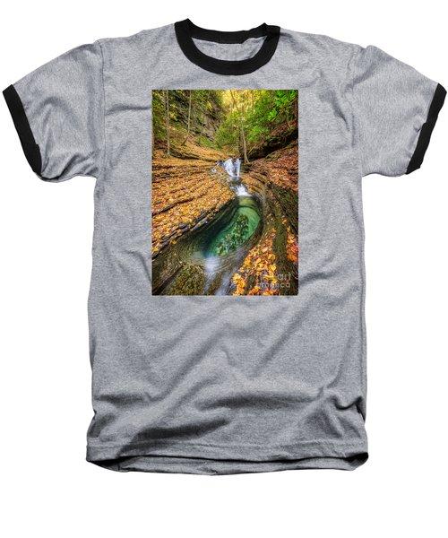 Devils Bathtub Autumn Baseball T-Shirt by Anthony Heflin