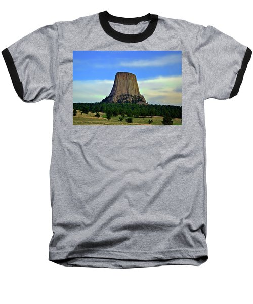 Baseball T-Shirt featuring the photograph Devils Tower 002 by George Bostian