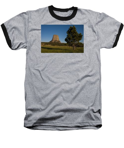 Baseball T-Shirt featuring the photograph Devil's Tower by Gary Lengyel
