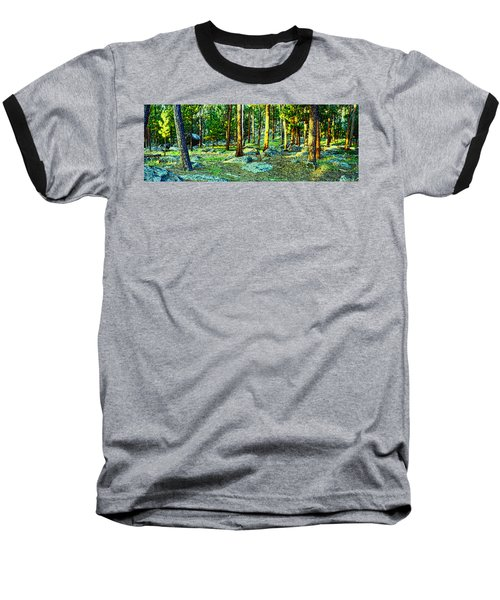 Devils Tower Morning Baseball T-Shirt by Dave Luebbert
