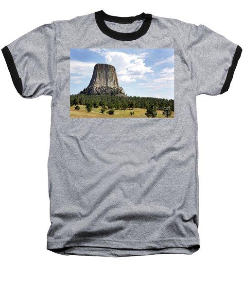 Devils Tower National Monument Baseball T-Shirt
