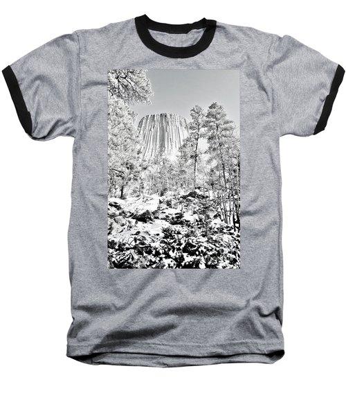Devils Tower Wyoming Baseball T-Shirt