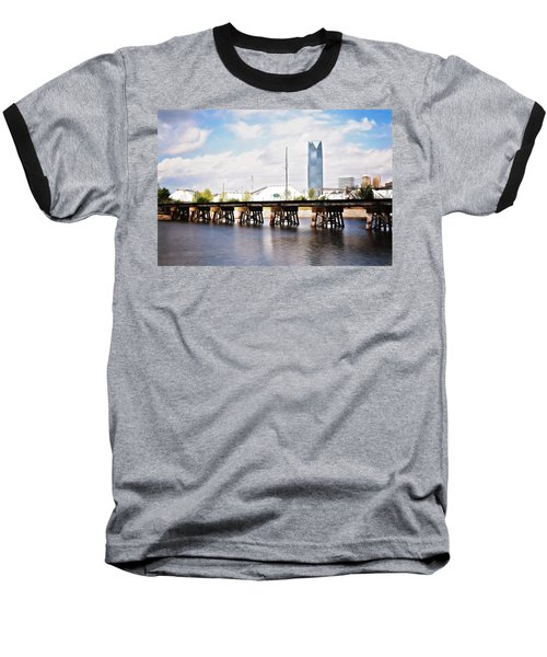 Baseball T-Shirt featuring the photograph Devon Tower by Lana Trussell