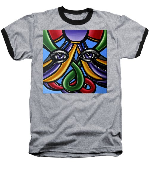 Colorful Eye Art Paintings Abstract Eye Painting Chromatic Artwork Baseball T-Shirt