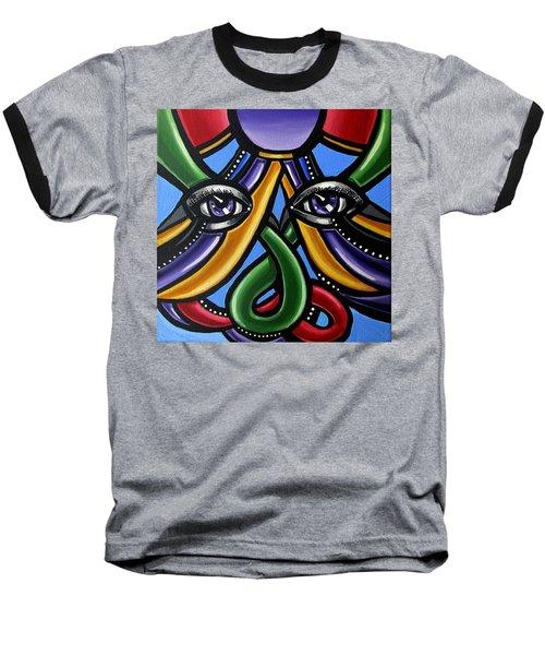 Colorful Eye Art Paintings Abstract Eye Painting Chromatic Artwork Baseball T-Shirt