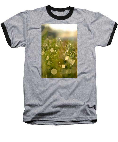 Baseball T-Shirt featuring the photograph Dew Droplets by Nikki McInnes