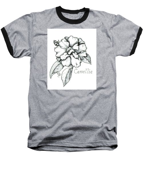 Dew Kissed Camellia Baseball T-Shirt