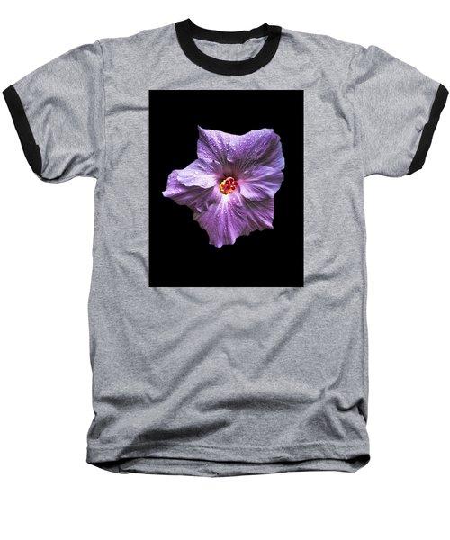 Dew Kissed Hibiscus Baseball T-Shirt