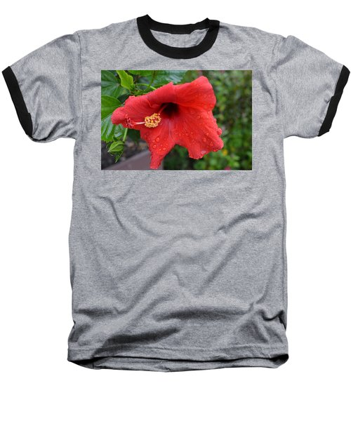 Dew On Flower Baseball T-Shirt