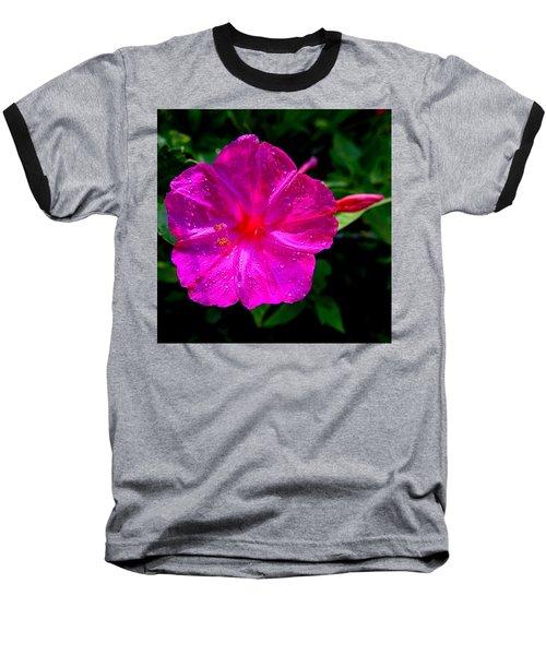Dew On Four O'clock Blossom Baseball T-Shirt