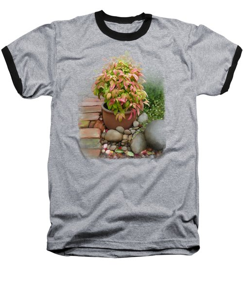 Baseball T-Shirt featuring the painting Dew On Leaves by Ivana Westin