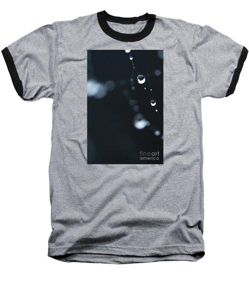Dewdrops On Cobweb 004 Baseball T-Shirt