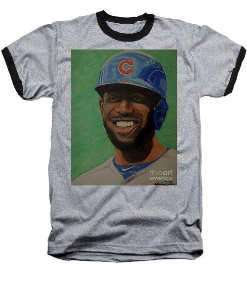 Dexter Fowler Portrait Baseball T-Shirt by Melissa Goodrich