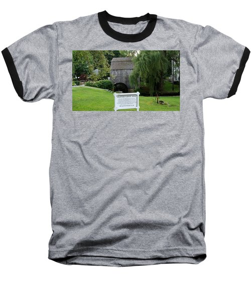 Baseball T-Shirt featuring the painting Dexter's Grist Mill by Rod Jellison