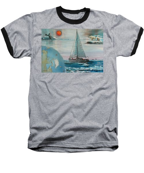 Ireland Canada Links..'' Northabout '' Rounding The North West Passage Baseball T-Shirt