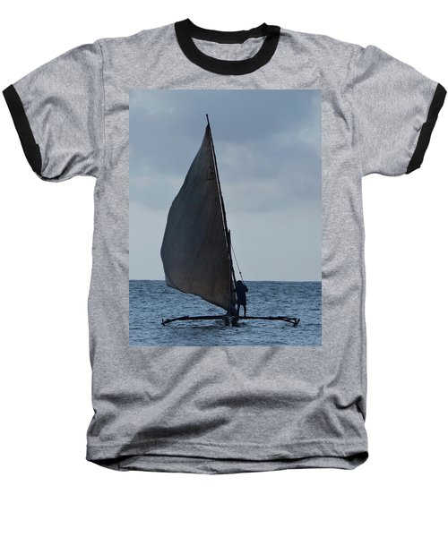 Dhow Wooden Boats In Sail Baseball T-Shirt