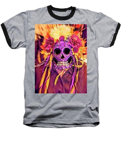 Dia De Muertos Mask Baseball T-Shirt
