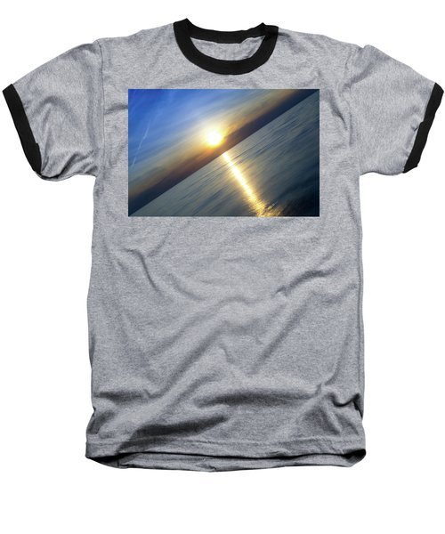 Diagonal Sunset Baseball T-Shirt
