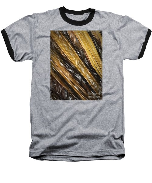Baseball T-Shirt featuring the photograph Diagonals  ... by Chuck Caramella