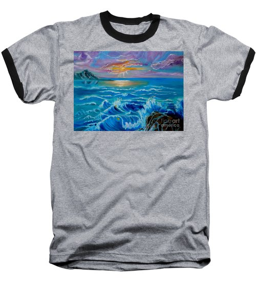 Diamond Head Sunset Jenny Lee Discount Baseball T-Shirt