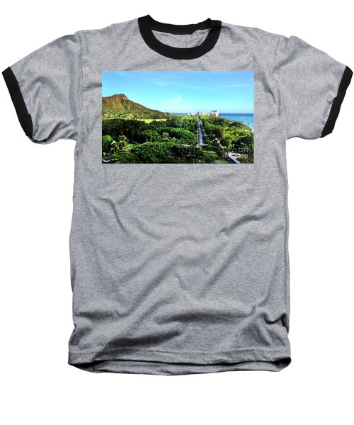 Baseball T-Shirt featuring the photograph Diamond Head by Kristine Merc