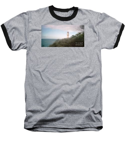 Diamond Head Light House Baseball T-Shirt by Ted Pollard