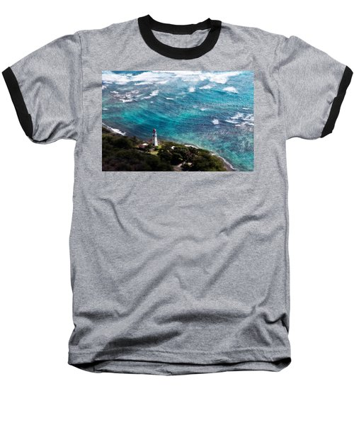Diamond Head Lighthouse Baseball T-Shirt by Steven Sparks