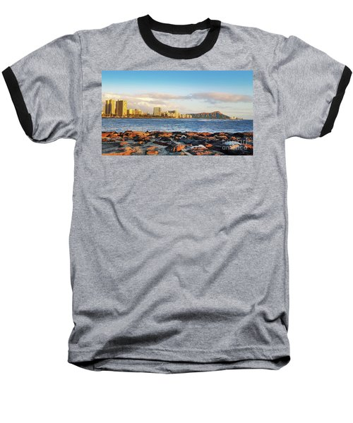 Diamond Head, Waikiki Baseball T-Shirt