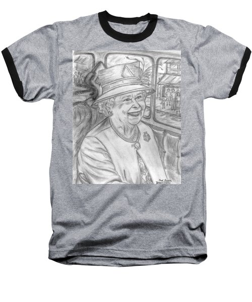 Baseball T-Shirt featuring the drawing Diamond Jubilee by Teresa White