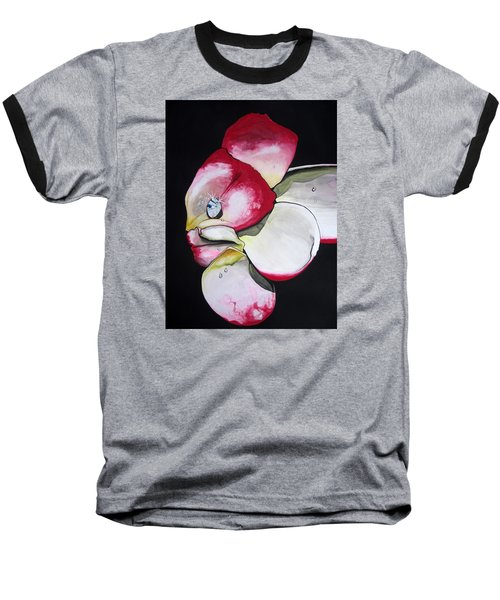 Baseball T-Shirt featuring the painting Diamond by Mary Ellen Frazee